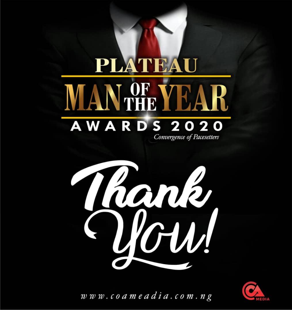 Winners of Plateau Man of the year award