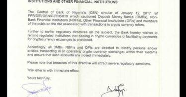 Ban Crypto in Nigeria